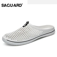 Men Summer Slippers Shoes 2017 New Hollow Out Breathable Beach Sandals Unisex Casual Slip on Flip Flops Flats zapatos hombre
