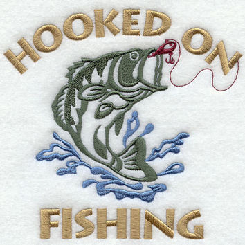 Hooked on Fishing EMBROIDERED Men's Apron