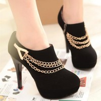 Martens Ankle Chain Boots