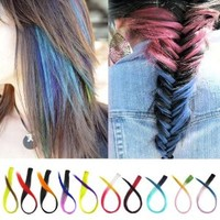 ECOSCO 24inches 12pc Assorted of Fading color Clips in Human Hair Extensions for Women's Beauty Hairsalon in Fashion