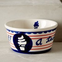 Easy Like Sundae Ice Cream Bowls by Anthropologie in Blue Size: One Size Bowls