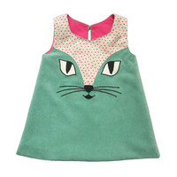 Cat Dress in Turquoise
