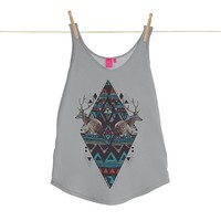 Quirky Illustrated Gifts   Manufacturing Memories Womens Vest   Kris Tate   New   Apparel   Womens   Ohh Deer