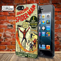 Spiderman Comic Case For iPhone 5, 5S, 5C, 4, 4S and Samsung Galaxy S3, S4