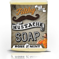 Filthy Farmgirl Mustache Soap Rose and Mint