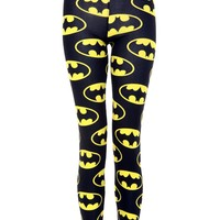 Batman Print Legging - Womens Clothing Sale, Womens Fashion, Cheap Clothes Online | Miss Rebel