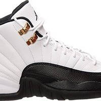 "Nike Mens Air Jordan 12 Retro ""Taxi"" White/Black-Taxi-Varsity Red Leather Basketball Shoes Size 11"