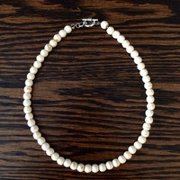 White Sand Beaded Choker - Solid Collection