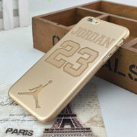 Michael Jordan 23 Golden Hard Plastic Ultra Thin Back Cover for Apple iPhone 6 6s 4.7''