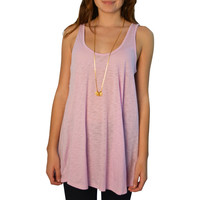 Rouge Knotted Back Tank in Orchid - Brother's on the Boulevard