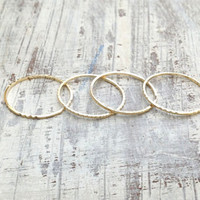 Special offer-4 Gold rings, gold ring, Stacking rings, stacking gold rings, knuckle rings, thin ring, tiny ring, gold knuckle rings -RR1