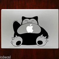 Cute Snorlax Sleeping Pokemon Mac Decals Stickers For Macbook 13 Pro Air Decal