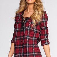Winslow Plaid Top