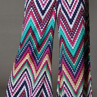 Chevron Print Palazzo Pants - Steele's Southern Boutique, LLC