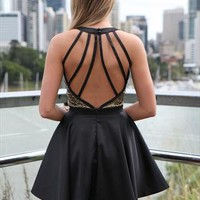 Pre sale black snake skin detail on bust party moment dress from xeniaeboutique