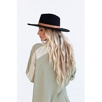 Venice Wide Brim Hat - Black