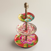 Red Enamel 3-Tier Jewelry Stand - World Market