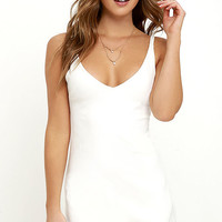 Catch My Drift Ivory Bodycon Dress