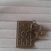 Closing sale - Steampunk  bird with gears and clock  brooch  pin