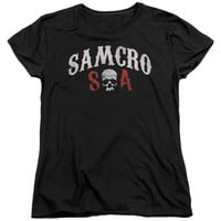 SONS OF ANARCHY/SAMCRO FOREVER-S/S WOMEN'S TEE-BLACK-2X