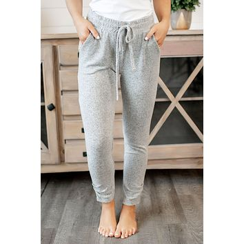 Z Supply Marled Ankle Pant (Heather Grey)