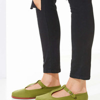 Cotton T-Strap Flat - Urban Outfitters