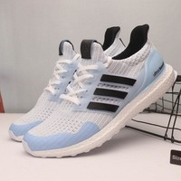 Game Of Thrones x Adidas Ultra Boost 4.0 White Walker Sport Running Shoes - Best Online Sale