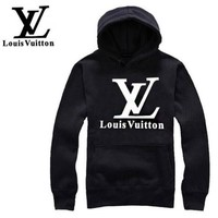 LV Louis Vuitton Trending Women Men Casual Letter Print Hoodie Top Sweater I