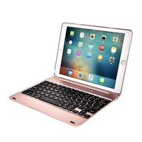 Mjack® IPad Pro 9.7 Air 2 Backlit Keyboard Case ABS Stand Smart Cover with  Backlits Bluetooth Keyboard Folios Case Cover