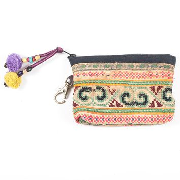 Vintage Hmong Hill Tribe Coin Purse (Thailand) - Style 15