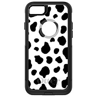 DistinctInk™ OtterBox Commuter Series Case for Apple iPhone or Samsung Galaxy - Black White Cow Dalmatian Spots