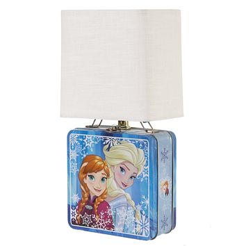 """""""Frozen"""" Metal Lunchbox Up-cycled Lamp"""