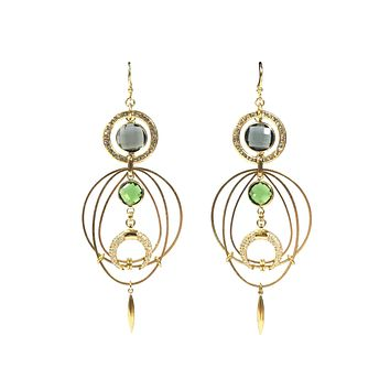 Crescent Moon Chandelier Earrings