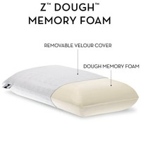 Z Memory Foam Pillow with Luxurious Velour Washable Cover - High Loft, Firm - Queen