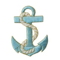 ID #2629 Anchor Nautical Boat Ship Marine Embroidered Iron On Applique Patch