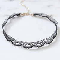 LA Hearts Black Lace Choker at PacSun.com