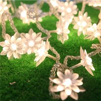 20 Led String Lights Battery Operated Christmas Fairy Lights Warm White Lutos Flower Decorative Indoor Outdoor Tree Party Patio