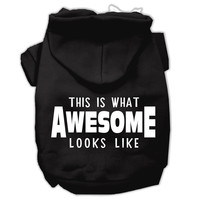 This is What Awesome Looks Like Dog Pet Hoodies Black Size Lg (14)