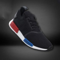 Women Adidas NMD Boost Casual nmd Sports Shoes Black blue red soles