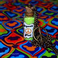 Disney California Adventure Cars Land Fillmores Organic Fuel Bronze Necklace Peace Sign Charm by Life is the Bubbles