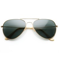 Retro Pilot Tear Drop Glass Lens Aviator Sunglasses 58mm 8840
