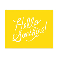 Hello Sunshine Art Print by RIFLE PAPER Co. | Made in USA