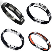 Trendy Silicone Stainless Steel Silicone Chain For Men