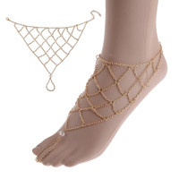 1pc Boho Gold anklet for women leg bracelet Feet Jewelry Barefoot Sandals Retro ankle chain Foot jewellery Summer Beach