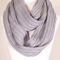 Cable Knit Infinity Scarf - Multiple Colors