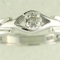 New Genuine Diamond Promise Ring 10kt White or Yellow Gold Sizes 3 - 10