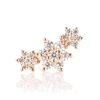 Diamond Flower Garland 18kt gold and diamond single earring