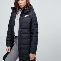 Nike Down Filled Long Padded Parka Jacket at asos.com