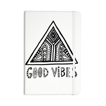 """Vasare Nar """"Good Vibes"""" White Black Everything Notebook"""