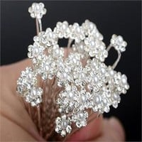 20PC Hairpins Wedding Women Hair Accessories Bridal Crystal Rhinestone Headdress Hair Pins Hair Clips Bridesmaid Barrettes
